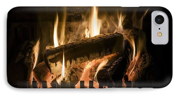 Burning Wood On An Open Fire Phone Case by Sheila Terry
