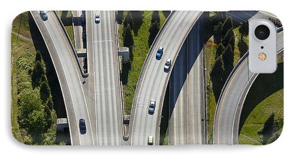 Busy Freeway Interchange Phone Case by Don Mason