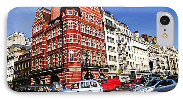 Busy Street Corner In London Phone Case by Elena Elisseeva