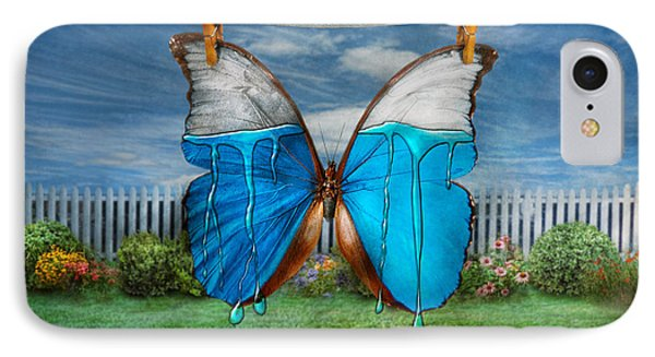 Butterfly - Morpho - I Hate It When The Colors Run IPhone Case by Mike Savad