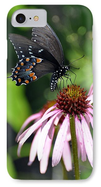 Butterfly And Coine Flower Phone Case by Marty Koch