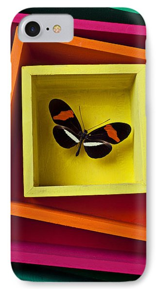 Butterfly In Box Phone Case by Garry Gay