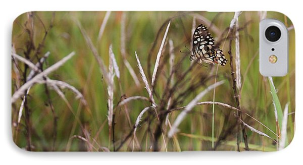 IPhone Case featuring the photograph Butterfly In Flight by Fotosas Photography