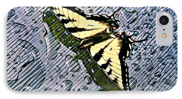Butterfly In Rain Phone Case by Susan Leggett