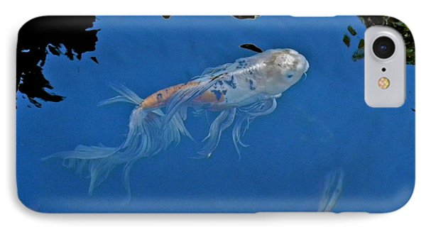 Butterfly Koi In Blue Sky Reflection Phone Case by Kirsten Giving