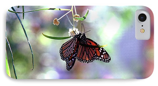 IPhone Case featuring the photograph Butterfly Meet-up by Tam Ryan