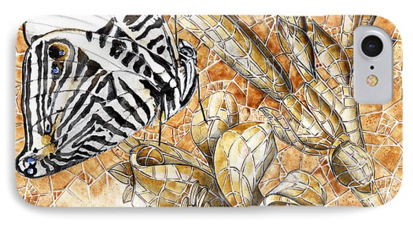 Butterfly Mosaic 02 Elena Yakubovich IPhone Case by Elena Yakubovich