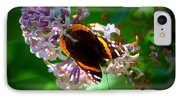 Butterfly On Lilac IPhone Case