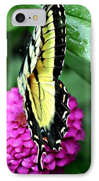 Butterfly On Pink Phone Case by Susan Leggett
