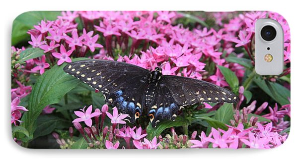 Butterfly Pinkflowers IPhone Case by Jerry Bunger