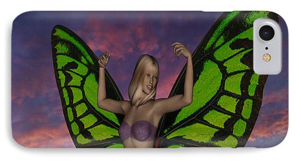 Butterfly Woman Phone Case by Matthew Lacey