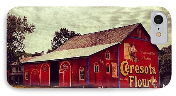 Buy Flour. #barn #pa #pennsylvania IPhone Case by Luke Kingma
