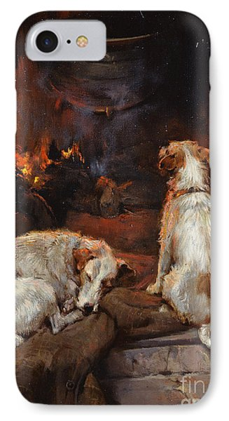 By The Hearth IPhone Case by Philip Eustace Stretton