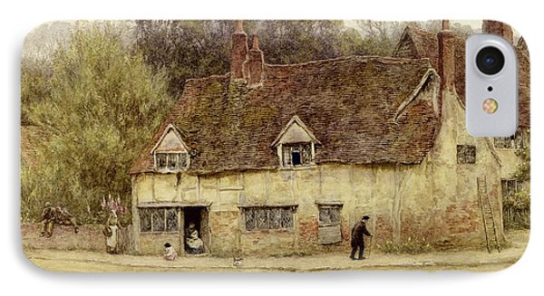 By The Old Cottage IPhone Case by Helen Allingham