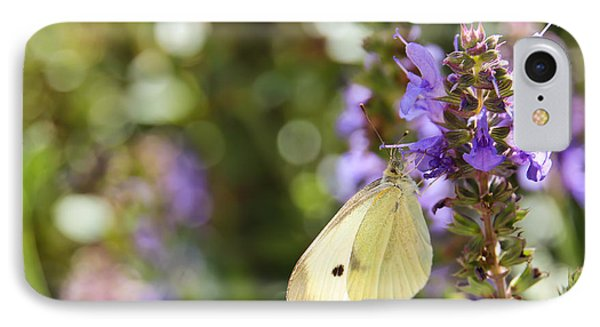 Cabbage White Butterfly IPhone Case by Heidi Smith