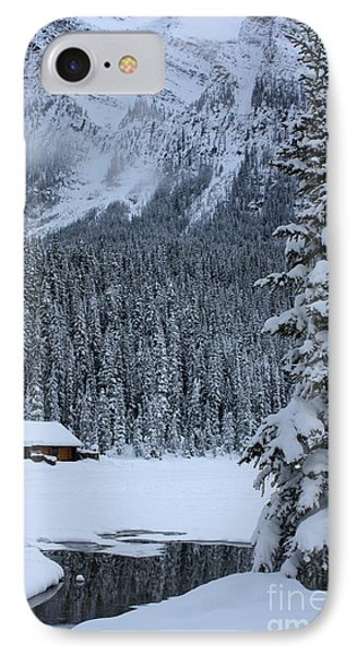 IPhone Case featuring the photograph Cabin In The Snow by Alyce Taylor
