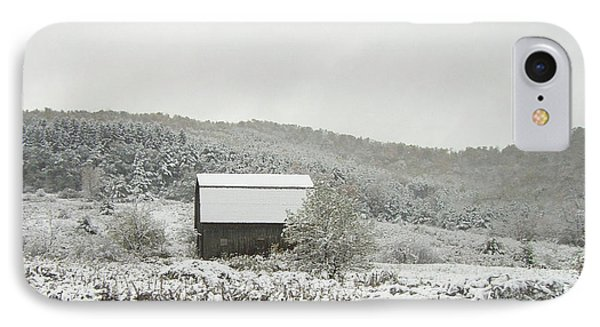 Cabin In The Snow Phone Case by Michael Waters