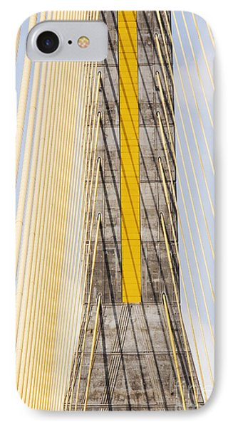Cables And Tower Of Cable Stay Bridge Phone Case by Jeremy Woodhouse