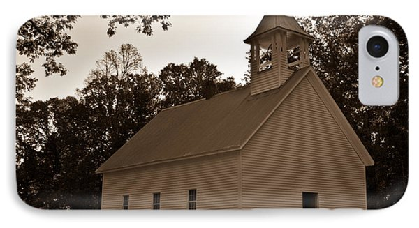 Cades Cove Baptist Church In Sepia 1 IPhone Case by Douglas Barnett