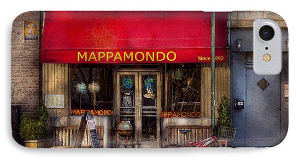 Cafe - Ny - Chelsea - Mappamondo  Phone Case by Mike Savad