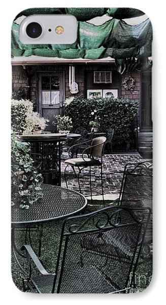 Cafe Courtyard IPhone Case