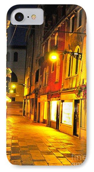 Cafe In Venice Phone Case by Alberta Brown Buller