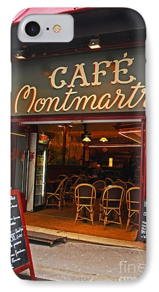 Cafe Montmartre Phone Case by Bob and Nancy Kendrick