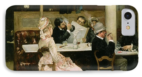 Cafe Scene In Paris Phone Case by Henri Gervex
