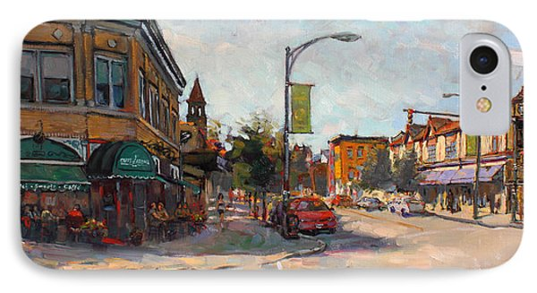 Caffe' Aroma In Elmwood Ave IPhone Case by Ylli Haruni