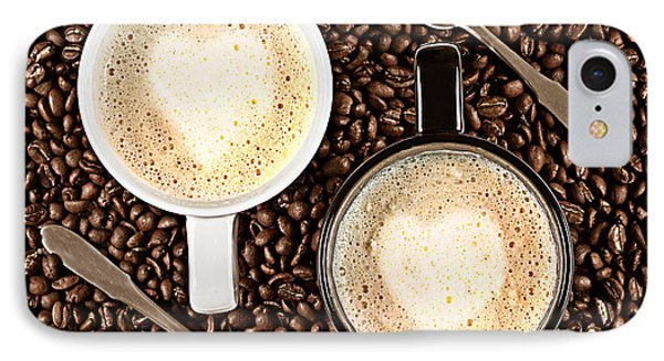 IPhone Case featuring the photograph Caffe Latte For Two by Gert Lavsen