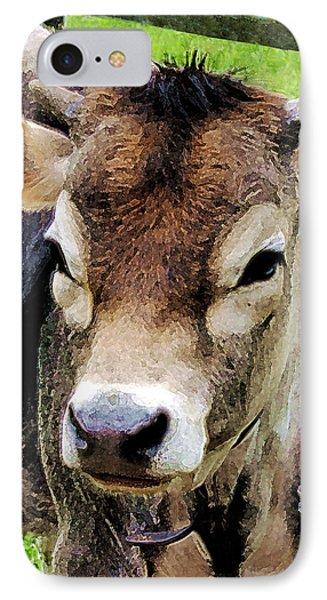 Calf Closeup Phone Case by Susan Savad