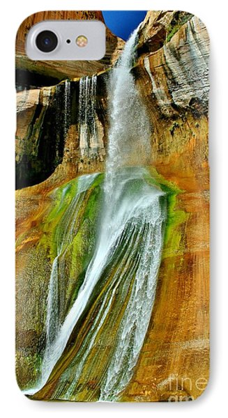 Calf Creek Falls II IPhone Case by Ellen Heaverlo