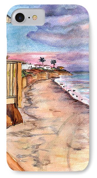 IPhone Case featuring the painting California Coast by Clara Sue Beym
