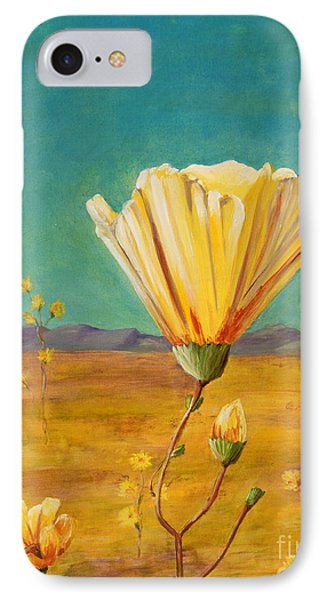 IPhone Case featuring the painting California Desert Closeup by Terry Taylor