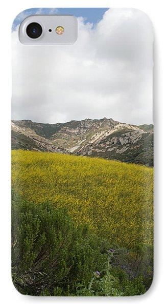 California Hillside View V IPhone Case by Kathleen Grace