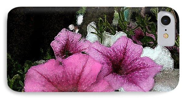 California Petunias IPhone Case by Karen Harrison
