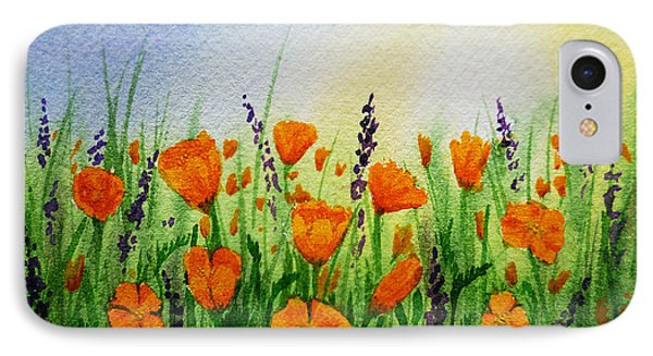 California Poppies Field Phone Case by Irina Sztukowski