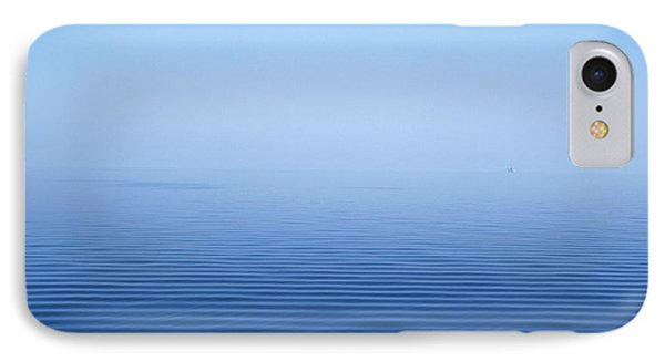 Calm Blue Water Disappearing Into Phone Case by Axiom Photographic
