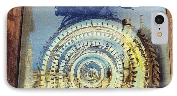 #cambridge #steampunk #clock IPhone Case by Christelle Vaillant