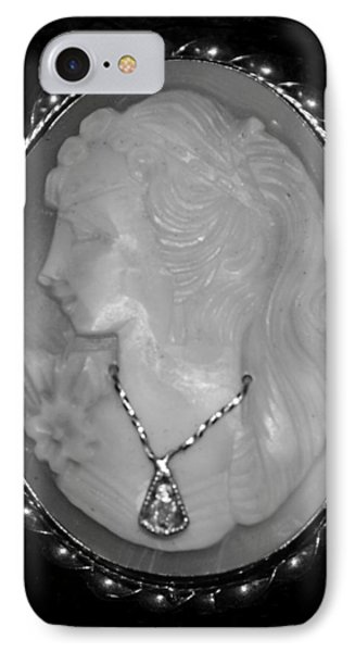 Cameo In Black And White Phone Case by Rob Hans