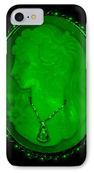Cameo In Green Phone Case by Rob Hans