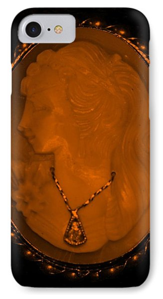 Cameo In Orange Phone Case by Rob Hans