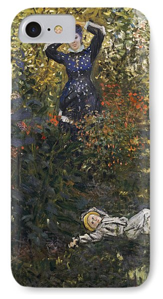 Camille And Jean In The Garden At Argenteuil  Phone Case by Claude Monet