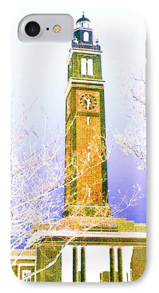 Campanile At Louisiana State University IPhone Case by Louis Nugent