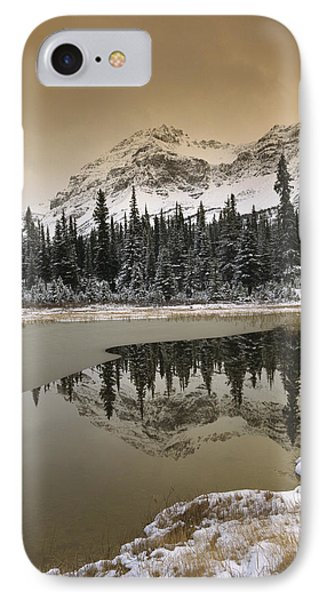 Canadian Rocky Mountains Dusted In Snow Phone Case by Tim Fitzharris