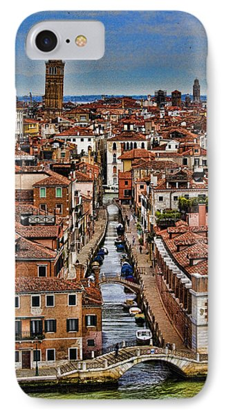Canal And Bridges In Venice Italy Phone Case by David Smith