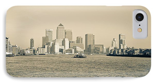 IPhone Case featuring the photograph Canary Wharf Cityscape by Lenny Carter