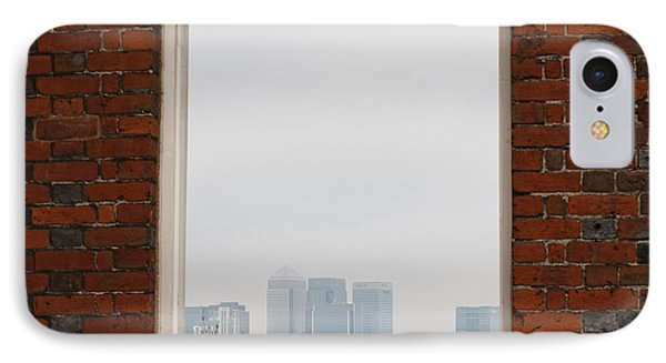 IPhone Case featuring the photograph Canary Wharf View by Maj Seda