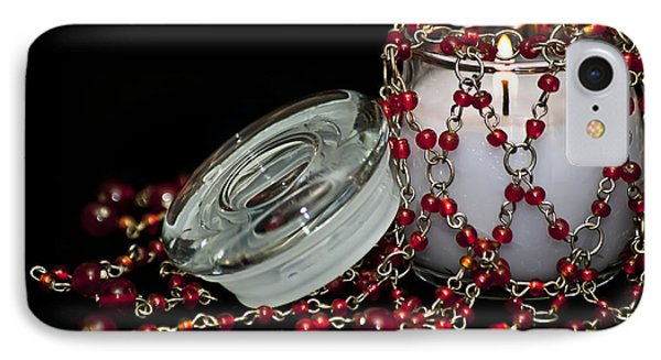 Candle And Beads Phone Case by Carolyn Marshall