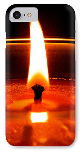IPhone Case featuring the photograph Candlelight by Ester  Rogers